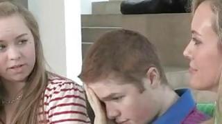 Brandi Love shared shaft with cute teen