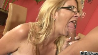 The taste and size of fresh latino cock makes Robbye Bentley really wild