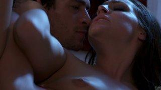 Gorgeous brown haired woman Gracie Glam passionate sex scene