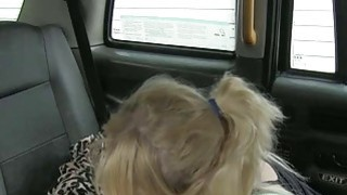 Hot blonde passenger fucked the pervert driver for free