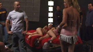 Numerous men feed cock hungry sex beasts Alisha Bizart, Capri and Brooke Hunter